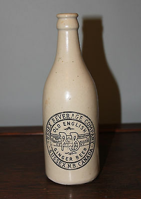 Sussex P&b Old English Ginger Beer Stoneware Bottle