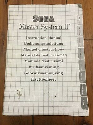 Sega Master System 2 Console Instruction Manual, Retro Gaming Collectable
