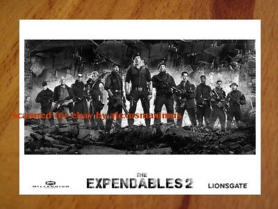THE EXPENDABLES 2 rare 30 B&W Press Kit Photo Set SYLVESTER STALLONE Van Damme