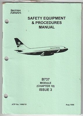British Airways Boeing 737 Cabin Crew Safety Sep Manual Ba