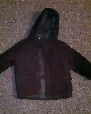 baby boys f&f duffle duffel coat aged 18-24 months outer 60% wool