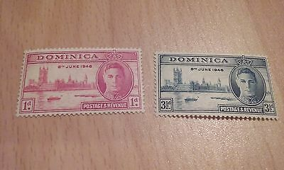 1946 Dominica Victory Set - Mounted Mint