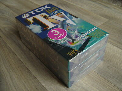 3 x 180 pack TDK VHS Video tapes * NEW & SEALED * videos cassettes cassette tape
