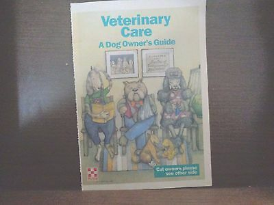 """Vintage Rare 1980's Purina Veterinary Care """"a Cat & Dog Owner's Guide Booklet"""