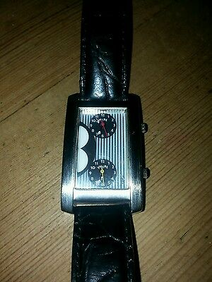 """Timex Disney Mickey Mouse World Dual Time Zone """"Here There"""" Tank Watch"""