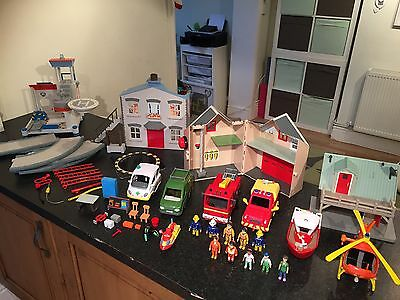 Fireman Sam Bundle With Figures Tower Track Station Accessories And Vehicles