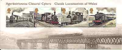 2014 Gb Qeii Classic Locomotives Of Wales Commemorative Stamp Sheet Sg Ms 3578