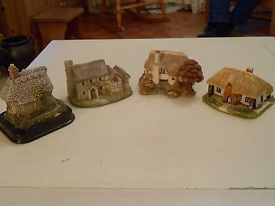 Four Beautiful Models of Cottages From Ceramia, Lilliput Lane,and Milkestones