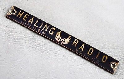 Original Enamel & Brass Healing Valve Radio Golden Voiced Badge
