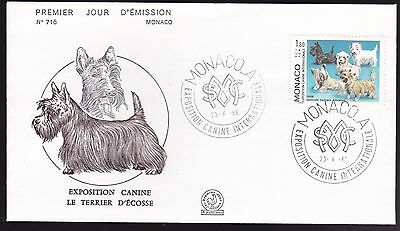 Monaco 1986 Monte Carlo Dog Show on FDC Cat £7.75