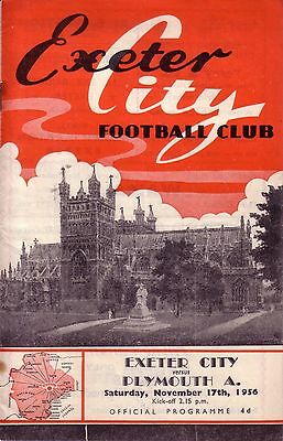 EXETER v PLYMOUTH 1956/57 FA CUP 1ST ROUND