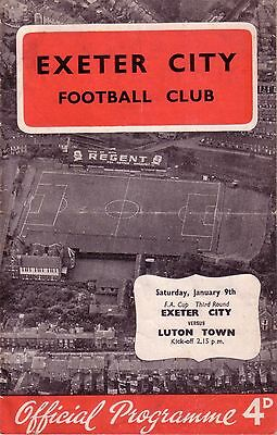 EXETER v LUTON 1959/60 FA CUP 3RD ROUND