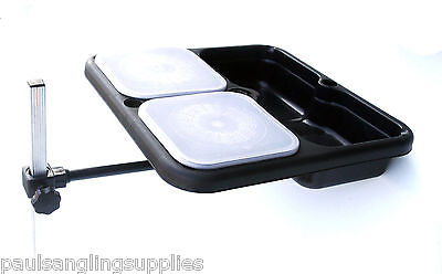Square Bait Waiter & 2 Bait Boxes Cross Arm For Seat Box Side Tray Stand