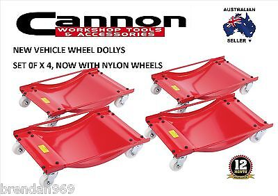 WHEEL DOLLY Set OF 4  CAR DOLLIES 450kg  Positioning Dollys Trailer Caravan Boat