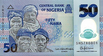 NIGERIA 50 naira 2016 UNC polymer - NEW DATE - 1st offer on ebay