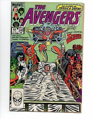 """The Avengers #240 (Feb 1984, Marvel) VF- 7.5 """"SPIDER-WOMAN REVIVED"""""""