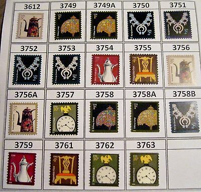 American Design Definitives 2002 to 2011 Complete Set 19 Scott's 3612 to 3763