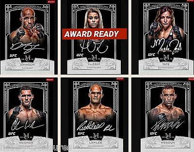 6X MUSEUM COLLECTION SIGNATURE SET with AWARD Paige Vanzant Topps UFC Knockout