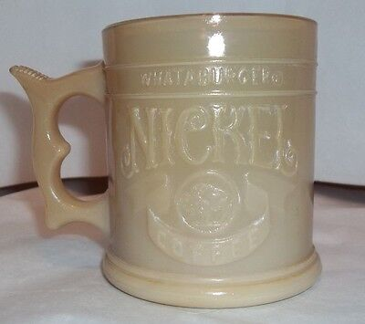 WHATABURGER Nickel Carmel Colored Coffee Cup ~Mug~Excellent Condition