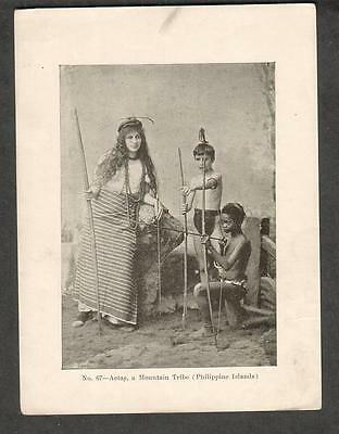 c 1900 photogravure photo - Aetas- a Mountain Tribe Philippine islands