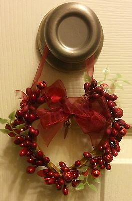 New Red Berry Door Knob Ornament  Valentine's Day Spring Decor