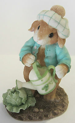 1996 Enesco My Blushing Bunnies Lettuce Give Thanks For Friends Figurine 204390