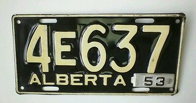 1953 ALBERTA LICENSE PLATE Near Mint