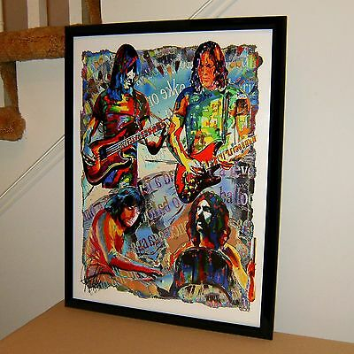 Pink Floyd, Roger Waters, David Gilmour, Hard Rock, Music, 18x24 POSTER w/COA