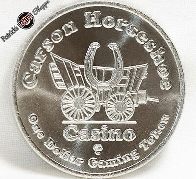 $1 Slot Token Coin Carson Horseshoe Casino 1994 Gdc Mint Carson City Nevada New