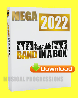 Band In A Box 2019 Megapak -Digital -Win- Audio Music Software - New Full Retail