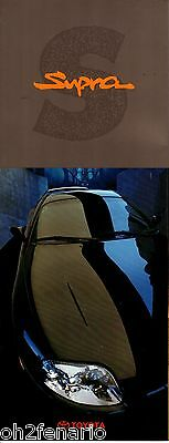 1993 Toyota Supra Turbo Sales Brochure  Multi Page Foldout