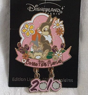 DLRP Disney Paris Trading Pin - Mother's Day Thumper from Bambi - LE 600