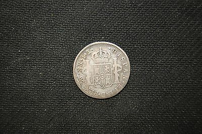 Peru 2 Reales IJ 1802 Silver World Coin South America RARE Colonial Spain Lima