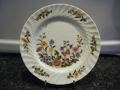 Vintage Aynsley Bone China Cottage Garden Plate Collectible Dish Kitchen House-w