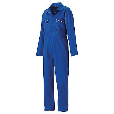 Dickies Redhawk Junior/Child Zip Front Overalls/Coverall/Suit - Royal Blue - 24