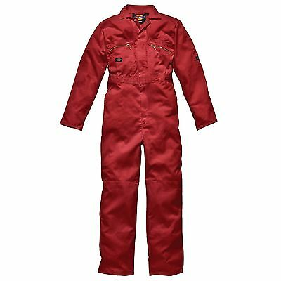 Dickies Mens Redhawk Zip Front Work Overalls/Coverall/Suit - Red - 52 - Tall