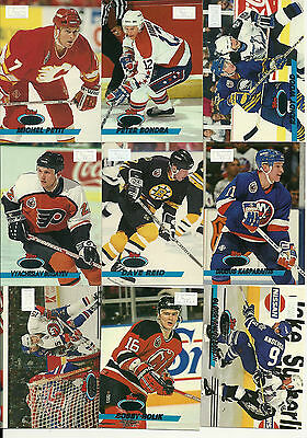 1993-94 Stadium Club 1st Day Issue lot of 9 cards read  description