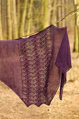 Sonning shawl kit including pattern and Fyberspates lace.