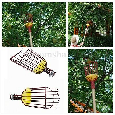 Fruit Picker Apple Orange Peach Tree Grab Picking Basket Bag Cloth Handheld Tool