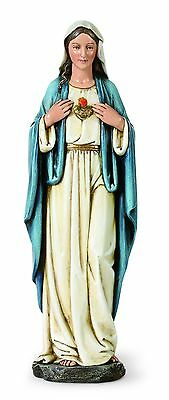 Immaculate Heart of Mary Catholic Statue Blessed Mother Figurine