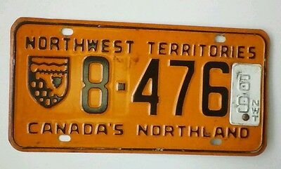 1969 NORTHWEST TERRITORIES LICENSE PLATE Nice