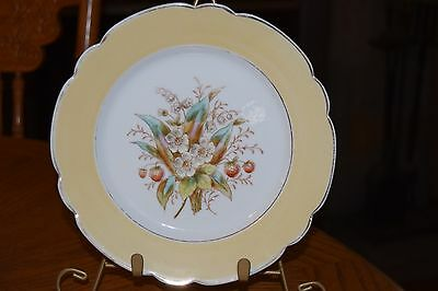 Vintage Floral Strawberry and Lily of the Valley Plate