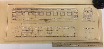 Chicago Great Western Pullman Observation Car Blueprint - Railroad, Live Steam