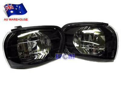 For Subaru Impreza GC8 WRX STI Side Repeaters Indicators Black Smoke To AU