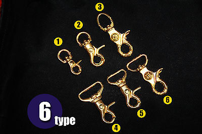 Solid Brass Spring Snap Hook Swivel Clasp Key Ring Chain Hardware Japan-Model