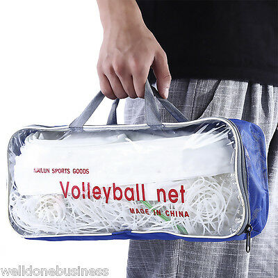 Portable Durable Competition Official PE 9.5M x 1M Volleyball Net with Pouch
