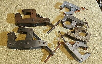Lot Of 6 Kant Twist Clamps 2 & 3""
