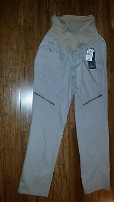 Oh Baby Motherhood Maternity Cotton Pants Khaki NEW Secret Fit Belly Large