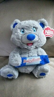 "NESTLE CANDY BAR BEAR BABY RUTH New Licensed Plush Stuffed Tags 10"" KELLYTOY"