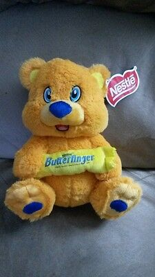 "NESTLE CANDY BAR BEAR BUTTERFINGER New Licensed Plush Stuffed Tags 10"" KELLYTOY"